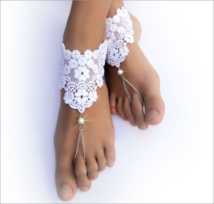 Lace Chain Barefoot Sandals