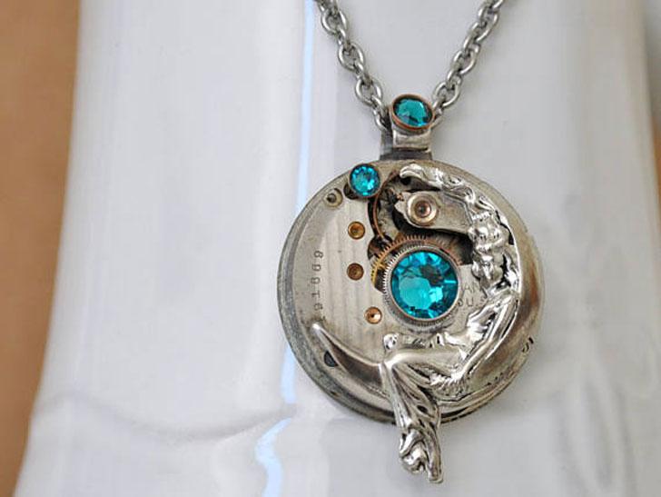 Lunar Goddess Steampunk Charm