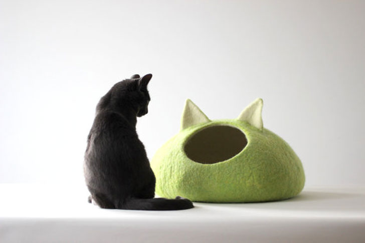 Made-To-Order Apple Green Cat Cave