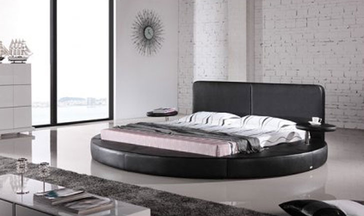 Matisse Oslo Round King Leatherette Bed