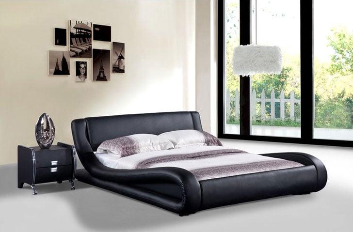Melrose Upholstered Platform Bed with cool bed frames