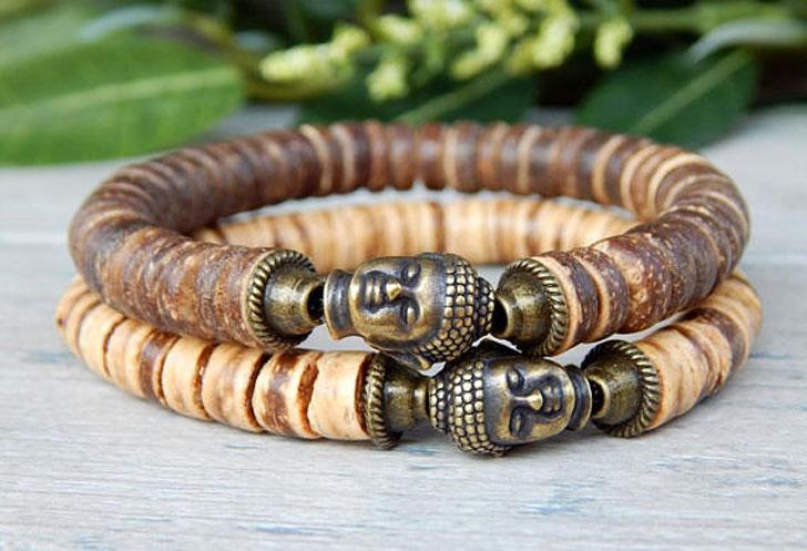 Men's Beaded Yoga Meditation Bracelet (2 Set)