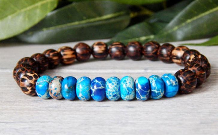 Men's Earth Beaded Bracelet