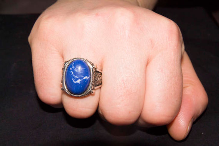 Men's Sterling Silver Sodalite Stone Gemstone Ring - Men's Gemstone Rings