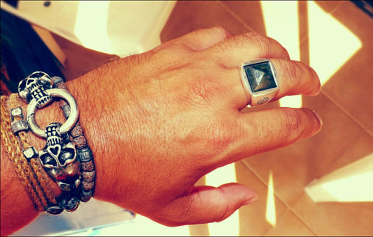 Men's Sterling Silver with Labradorite Gemstone Ring