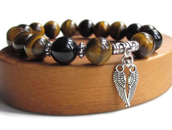 Men S Tiger Eye Protection Bracelet