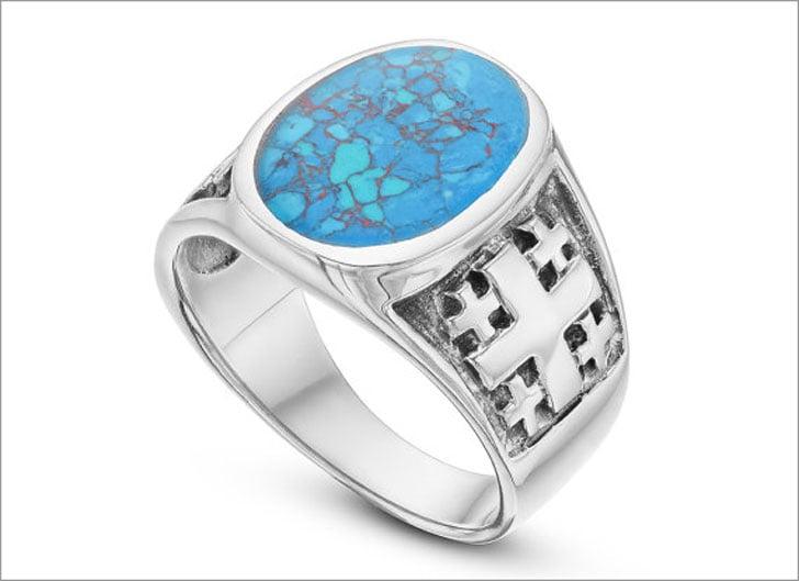 Men's Turquoise Signet Ring