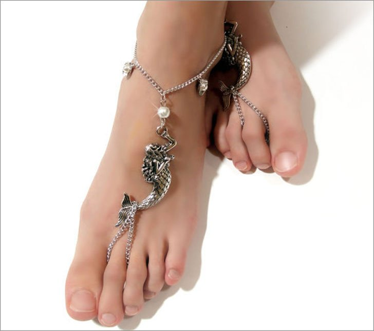 Mermaid Barefoot Bridal Beach Sandals