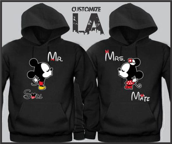 Mickey Mouse Soul Mate Hoodies