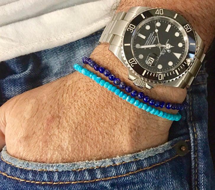 Minimal Turquoise Beaded Men's Bracelet