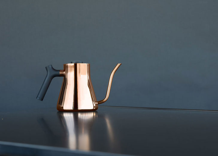 Minimalist Copper Pour Over Stagg Kettle