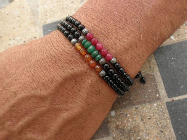 Mixed Gemstone Stacker Bracelet