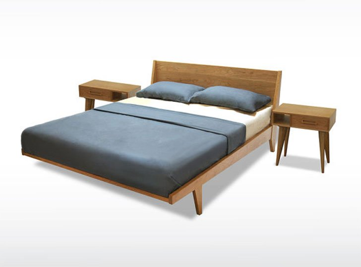 Modern Mid-Century Cheery Bed - coolest beds