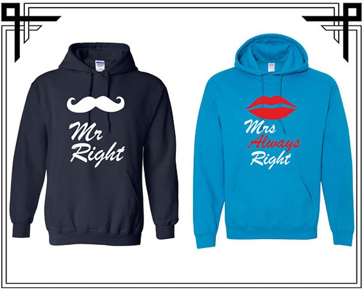 Mr Right and Mrs Always Right Hoodies
