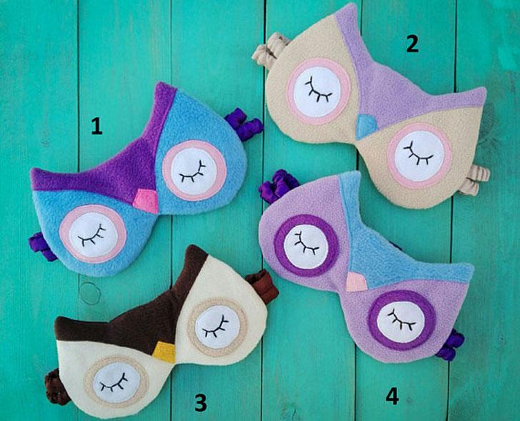 Multi Colored Owl Sleeping Masks