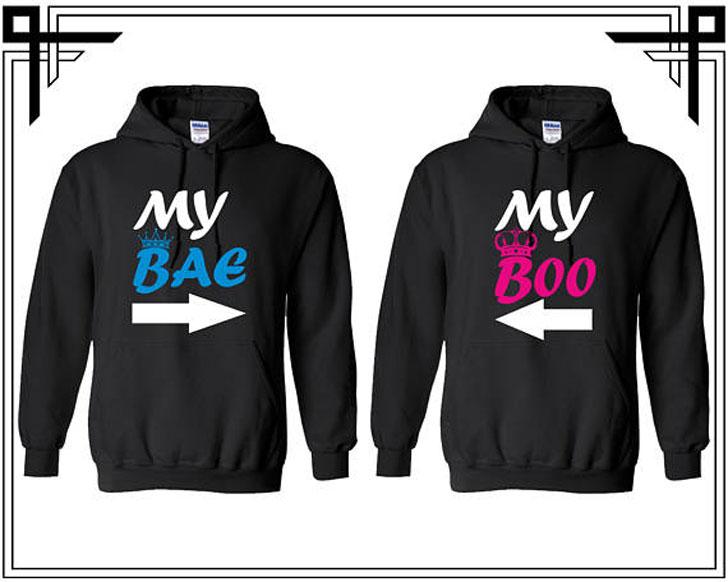 My Bae and Boo Hoodies