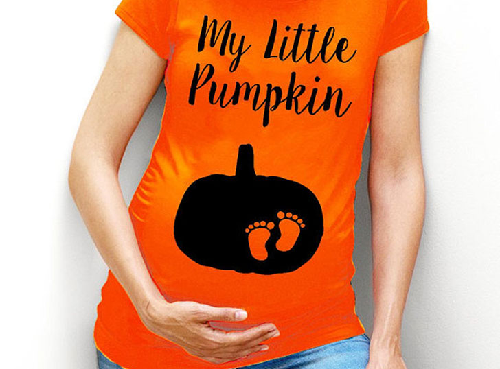 My Little Pumpkin Halloween Maternity Shirts