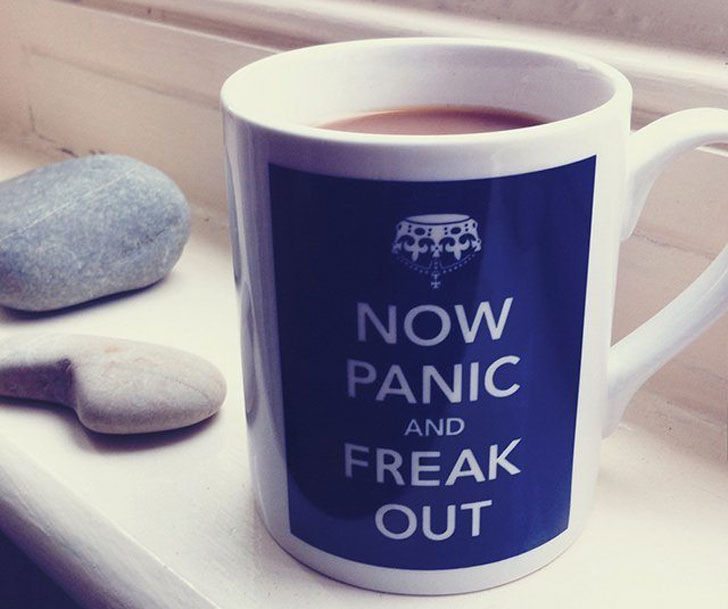 Now Panic & Freak Out Coffee Mug