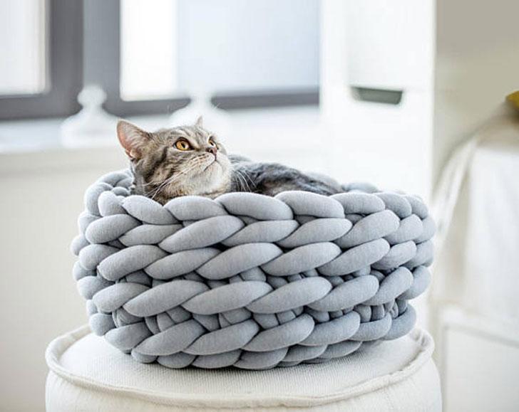 Ohhio Braid Cat Bed