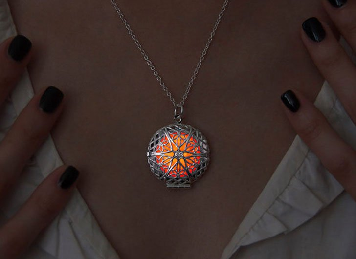 Orange Glow Steampunk Pendant