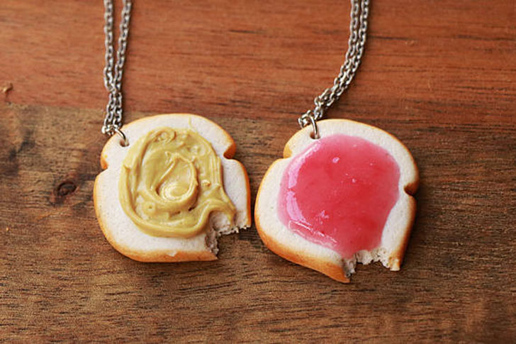 Peanut Butter & Jelly Friendship Necklaces