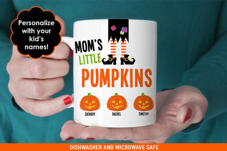 Personalised Moms Little Pumpkins Halloween Mugs