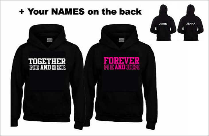 Personalised Together Forever Hoodies