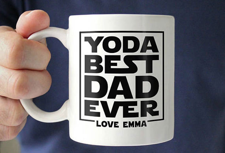 Personalised Yoda Best Dad Ever Mug - Funny Coffee Mugs