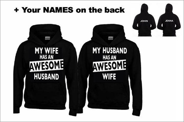 Personalized Has An Awesome Husband & Wife Hoodies