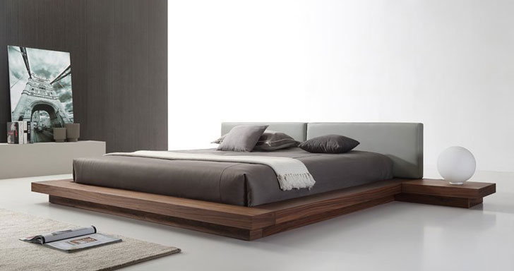 Prades Upholsterd Platform Bed