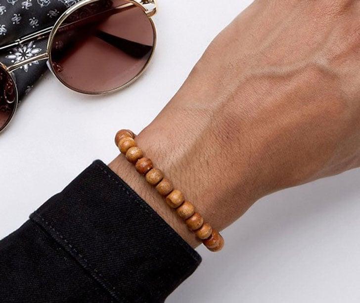 Reclaimed Vintage Inspired Bracelet In Wood Beads
