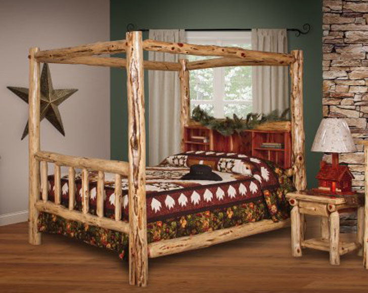 Rustic Furniture Barn Cedar Log Bed