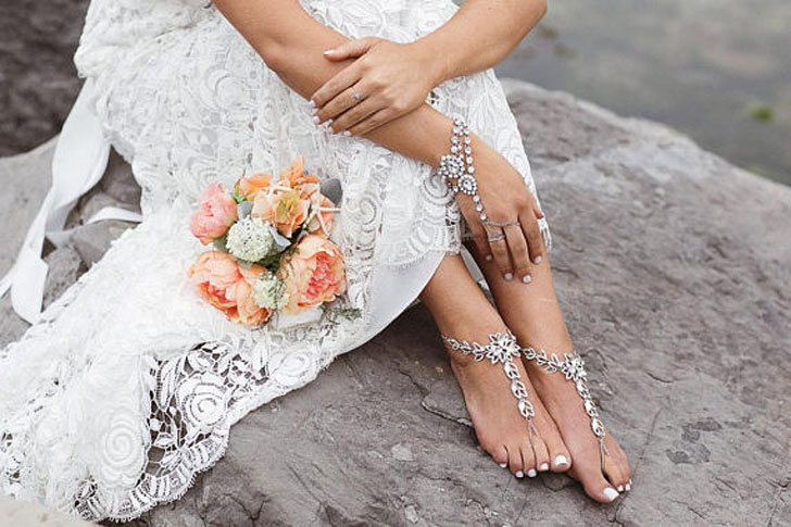 Salmar Barefoot Wedding Sandals