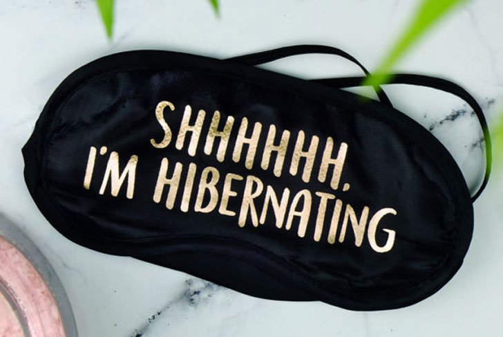 Shhhh Hibernating Sleeping Mask - Funny Sleeping masks