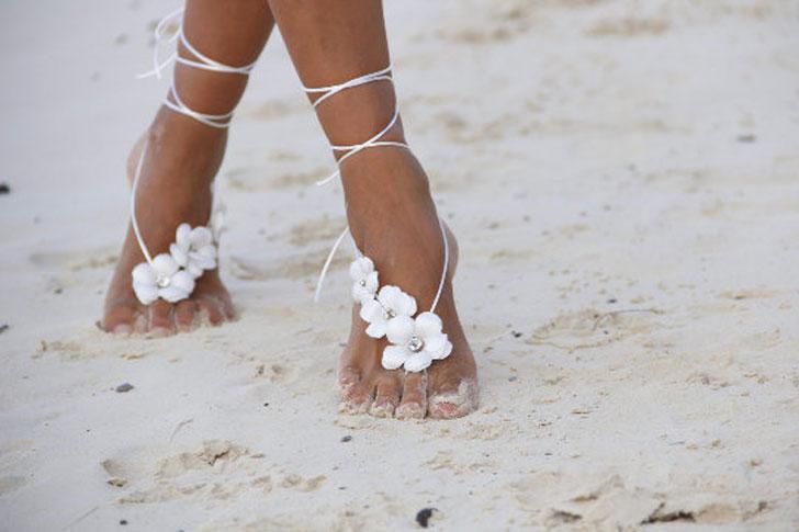 Spring Flowers Barefoot Beach Sandals