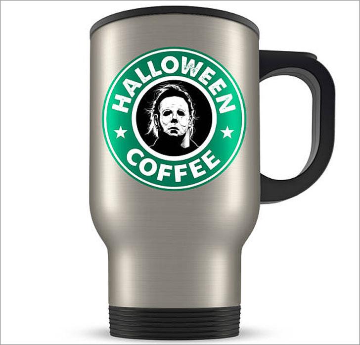 Star Bucks Halloween Travel Mug