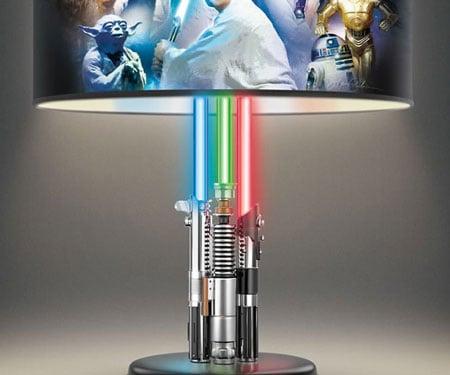 Lovely Star Wars Lightsaber Lamp