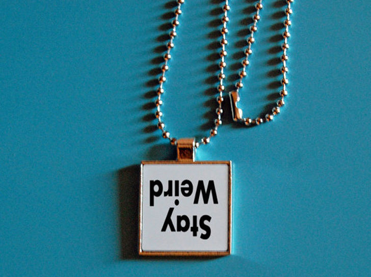 Stay Weird Necklace - unusual necklaces