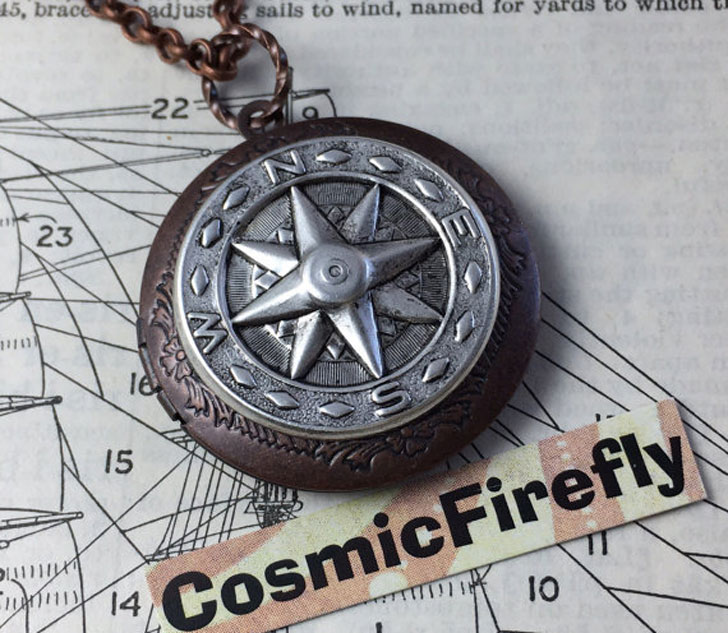 Steampunk Compass Locket