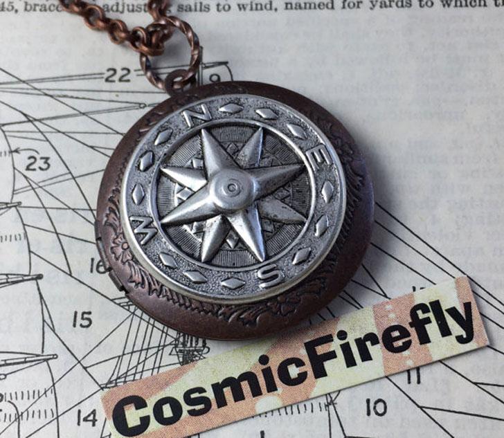 Steampunk Compass Locket