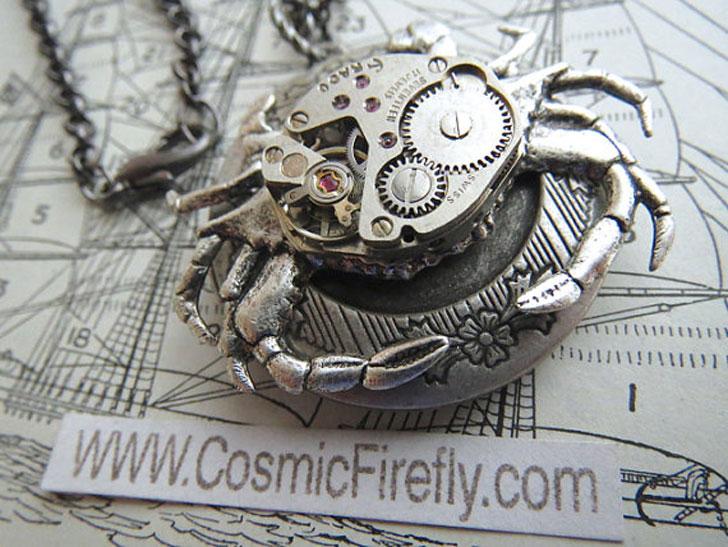 Steampunk Crab Locket