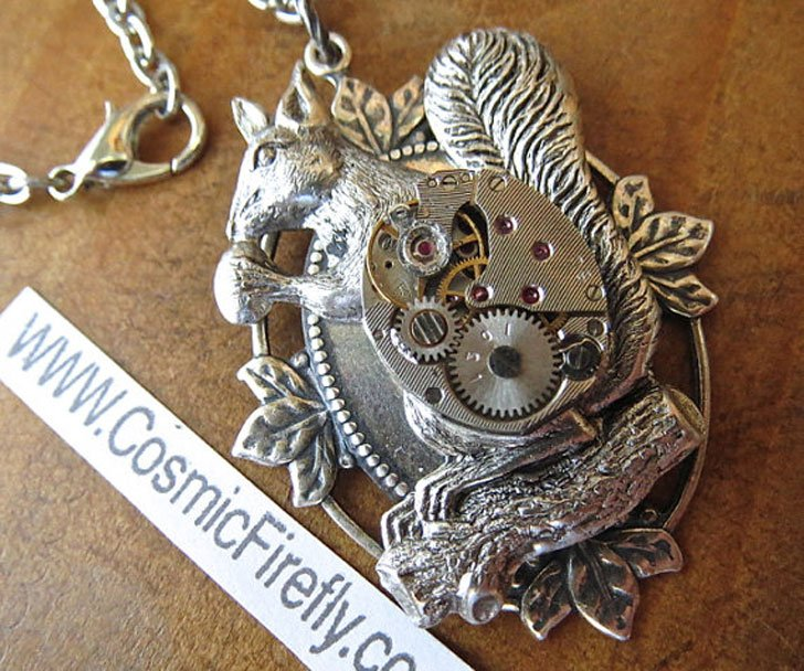 Steampunk Squirrel Necklace