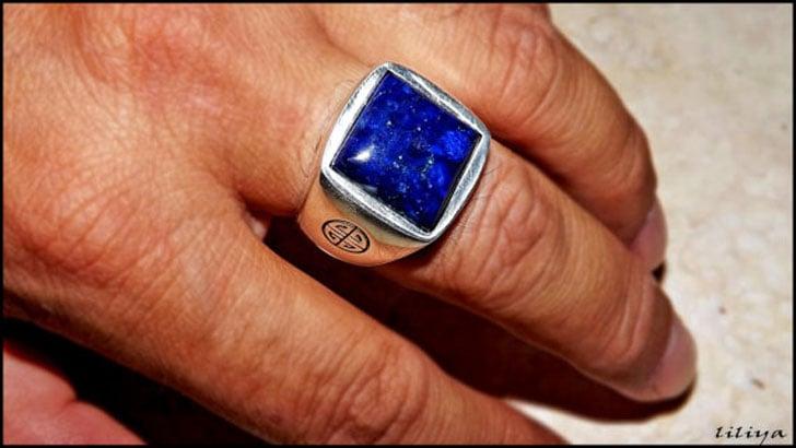 Sterling Silver & Lapis Lazuli Ring