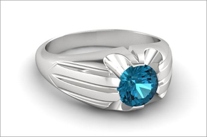 Sterling Silver London Blue Topaz Ring