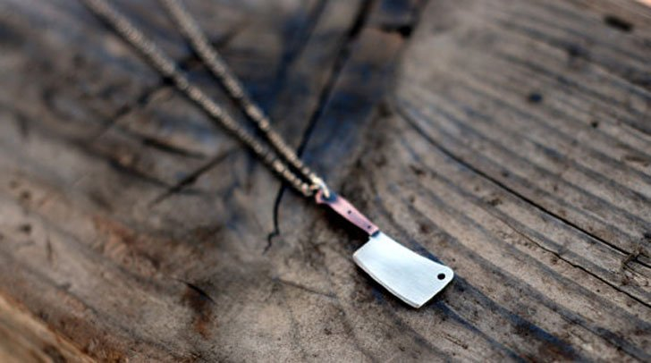 The Butcher Meat Cleaver Pendant