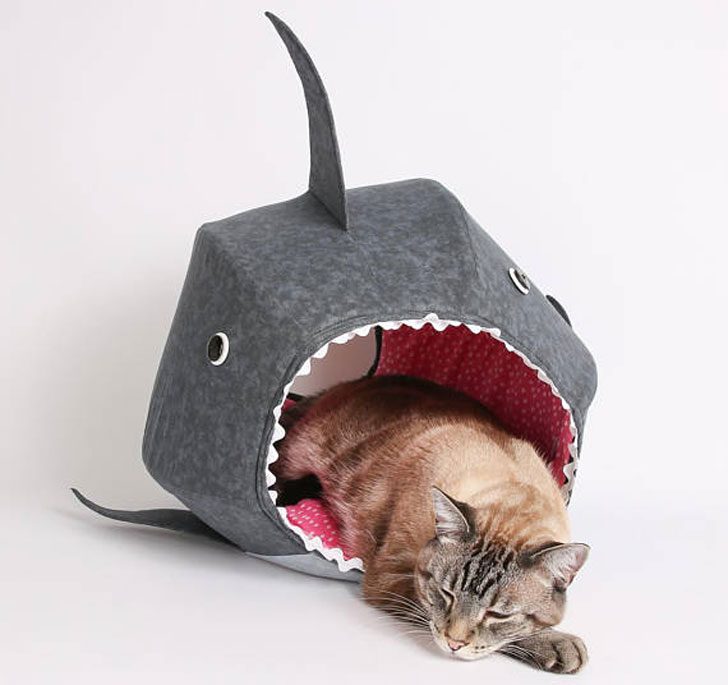 The Great White Shark Cat Bed