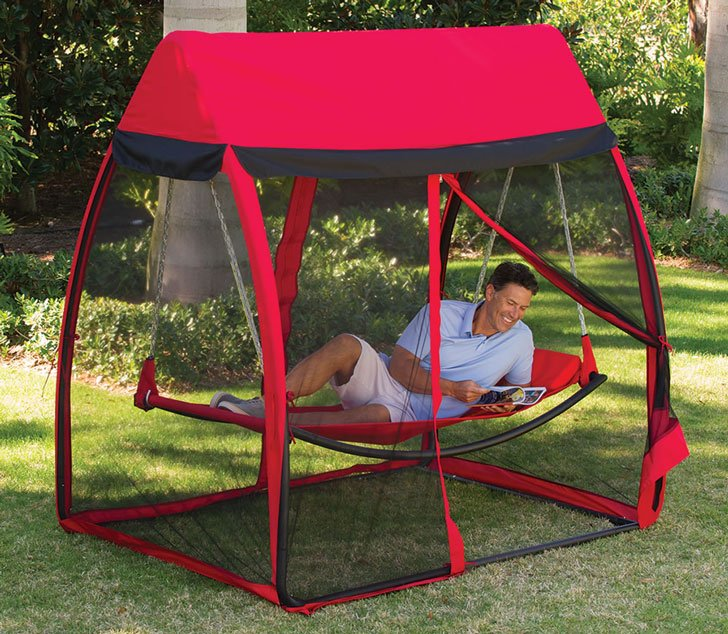 This Outdoor Mosquito Net Hammock Bed