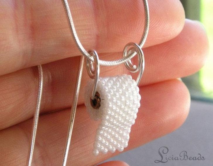 Toilet Paper Necklaces - unusual necklaces