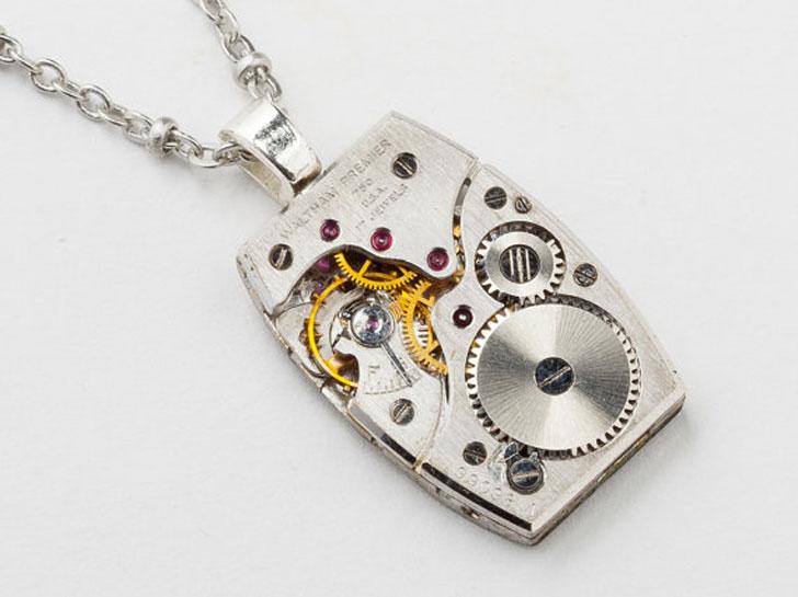 Unisex Steampunk Watch Parts Necklace