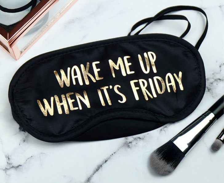 Wake Me When Its Friday Sleeping Mask - Funny Sleeping masks